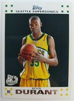TOPPS 2007 07-08 Kevin Durant Rookie RC #2, White BORDER Parallel MVP Warriors