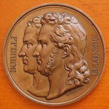 Italy Torment of Ciro , Menotti & Borelli 1831 Bronze Medal 41mm by Barre aUnc