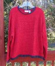 Elisabeth by Liz Claiborne Sweater, Crew Neck Style, Plus Size 2X Red USA Flag