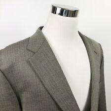 IZOD Mens 50R Sport Coat 100% Wool Beige Brown Herringbone Two Button Vented