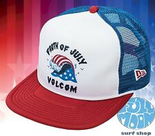 New Volcom Froth of July USA American Cheese Mens Trucker Snapback Cap Hat