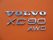 03-14 VOLVO XC90 AWD REAR LID CHROME EMBLEM LOGO BADGE SIGN SYMBOL OEM SET #3