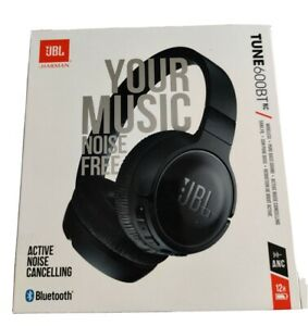 JBL TUNE600 Bluetooth Wireless Stereo Headphones Noise Cancelling - Black