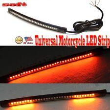 """8"""" Universal Motorcycle Led Light Strip Red / Amber Brake Tail Turn Signal Light"""