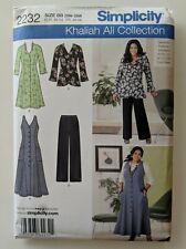 Simplicity Khaliah Ali  Collection #2232 Dress Jacket Pant 20W-28W Uncut