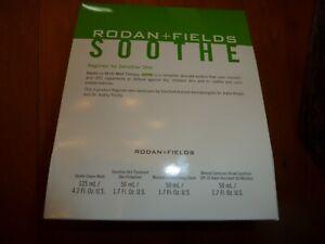 Rodan + and Fields Soothe Regimen Redness / Sensitive Irritated Skin 4pc Set Kit