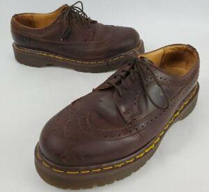 Vintage Dr Martens 3989 Mens Wingtip Oxford Made In England Brown 7 UK US 8