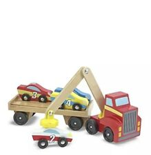 Toddler Toy Melissa & Doug Magnetic Car Loader Kids Play Game Pretend Pre-School
