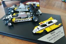 Alain Prost Renault Diorama 1982 Formel 1 Brasilien GP Modellauto 1:43 Quartzo