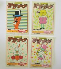 SERIE DI 4 VECCHI ADESIVI / Old Stickers JUNIOR TV BABY SHOW RECORDS (cm 7x10)