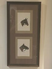 Original Paintings of Horses signed by Fred Sitzitr, framed