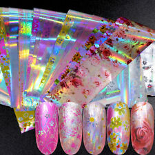 Laser Transfer Holographic Starry Manicure Decor Nail Art Stickers Nail Foil