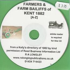 Farmers & Farm Bailiffs of Kent 1882 A-Z [Kelly's Directory]