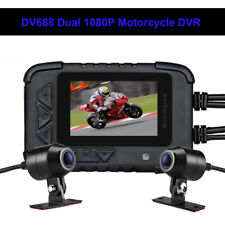 "DV688 Waterproof Motorcycle Bike 2.4"" Sport Night Vision Camera Front&Rear Lens"