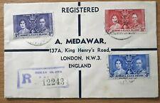 1937 Gilbert & Ellice Islands Stamp Cover - Coronation Of King George VI
