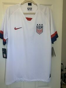 Nike Team USA Soccer Jersey Breath Away Blue One Nation SS Dri-Fit Men Med New