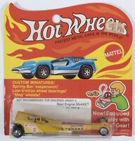 HOTWHEELS 1972 very rare Redline Rear Engine Snake (5856) – Yellow - Mint