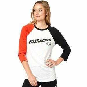 Fox Racing Struck Longshirt T-Shirt Top Frauen Weiß Schwarz Orange Gr. M *NEU*