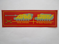 AUTOCOLLANT STICKER TELEDYNE AFAS FARV ARMORED FAMILY VEHICLE US ARMY CRUSADER