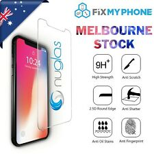 For iPhone X NUGLAS GENUINE Tempered Glass Screen Protector Superior Protection