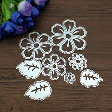 8pcs Flower Spring Leaf Cutting Dies Stencil Scrapbook Card Embossing Craft DIY