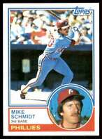 1983 Topps Set Break 2 Mike Schmidt Philadelphia Phillies #300