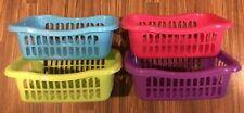 4 X Small Size  Storage Baskets Plastic 4 Colours 24 X 16.5 X 8 cm