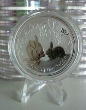 2011 AUSTRALIA Perth Mint LUNAR YEAR OF RABBIT 1 oz SILVER COIN