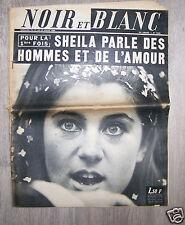 @ JOURNAL NOIR ET BLANC 1968 COUVERTURE SHEILA PARLE DES HOMMES ET DE L'AMOUR