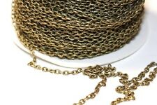 15ft 3x4mm Antique Brass Cable Chain links-unsoldered 1-3 day Shipping