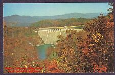 Postcard  HIWASSEE DAM  Lake Reservoir  TVA Tennessee Valley Auth. Murphy NC 60s