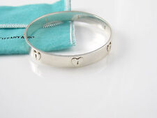 Tiffany & Co Silver Heart Locks Lock Bangle Bracelet!