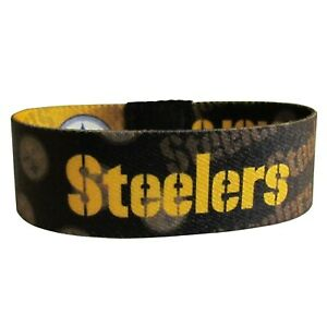 PITTSBURGH STEELERS STRETCH WRIST BRACELET  NLF Licensed Product  New In Package