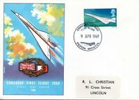 1969 Sg 784 Concorde 002 First Flight Filton Bristol Cover 9 April 1969