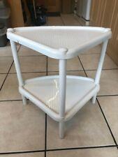 White Plastic Corner Stand