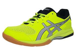 ASICS GEL-ROCKET 8 Men's Indoor Shoes Lime Black Badminton Squash B706Y-750