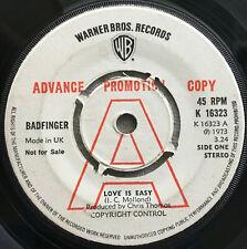 BADFINGER / LOVE IS EASY - WARNER UK / PROMO 1974