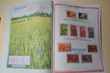 S. VIETNAM  1963 Stamps -  Complete set  of 26 Used Stamps with Album pages .