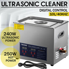 10L Liter Ultrasonic Cleaner Cleaning Equipment Industry Heated W/ Timer Heater