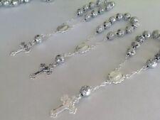 30 Pc Mini Rosary SILVER /Baptism Favor/ Decenario/ Recuerditos /communion Favor