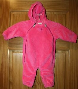 The North Face Infant Girls Size 0-3 Months Buttery Suit Fleece Bunting Pink