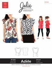 Jalie 3888 Adele Flutter Sleeve Top & Tunic Sewing Pattern Women & Girls Blouse