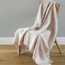 2 x Country Club Modena Pink Acrylic Throws 130cm x 170cm Sofa Chair Cover NEW