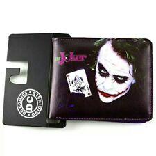 Black The Joker Batman Dark Knight Leather  Bifold Money Coin Card Wallet