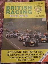 BRITISH RACING NEWS MAGAZINE #134 FEB 1991 STUNNING SUCCESS NEC CARTOON FUN