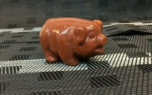 Golden Sandstone Pig Statue -Medium - Bring the Prosperity to the year