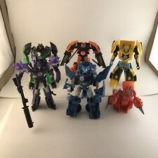 Transformers Rid Lot Of 6! Bumblebee Fixit Grimlock Drift Steeljaw Fracture!