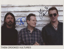 Them Crooked Vultures Dave Grohl Josh Homme Signed 8x10 Photo Genuine In Person
