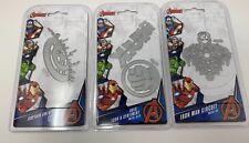 Marvel Avengers Die Set Captain America's Shield, Hulk Icon, Iron Man BUNDLE