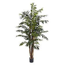 Nearly Natural 5329 Bamboo Palm Silk Tree- 5-Feet- Green NEW